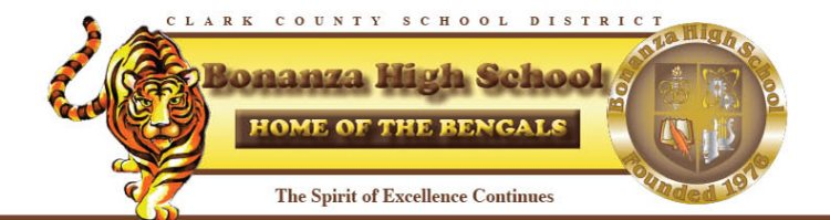 Bonanza High School website banner image